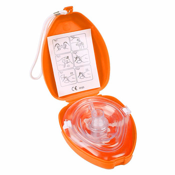 1 PCS  Medical CPR Resuscitator Rescue First Aid Masks  Breathing Mask Mouth Breath One-way Valve Tools