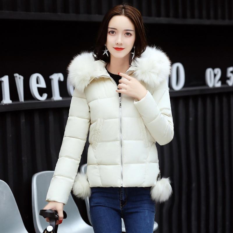 2018 Sweet Slim Women Bomber   Jackets   Women Winter Parkas Ladies Short Coats Warm Casual Female Winter   Basic     Jacket   Coat FDR114