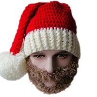 Men Women Creative Beard Novelty Handmade Knitting Wool Funny Hat Christmas Party Santa Claus Hand Knitted