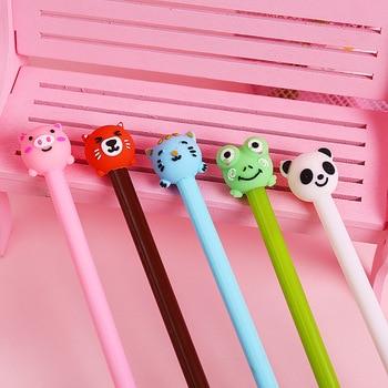 2018 new Cute panda cat Bear Gel Pen School Office stationery Supply Student gifts Escolar Papelaria 0.5mm black ink pens [category]
