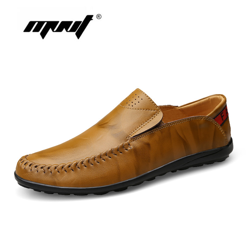 Hot Sale High Quality Casual Shoes For Men,Fashion Men Flats Shoes,Slip On Leather Men Shoes Moccasin branded men s penny loafes casual men s full grain leather emboss crocodile boat shoes slip on breathable moccasin driving shoes