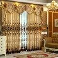 1 UNID Jacquard Chenilla Cortinas para la Sala de estar de Lujo Gruesas Cortinas para el Dormitorio Comedor Ventana (Sin Cenefa)