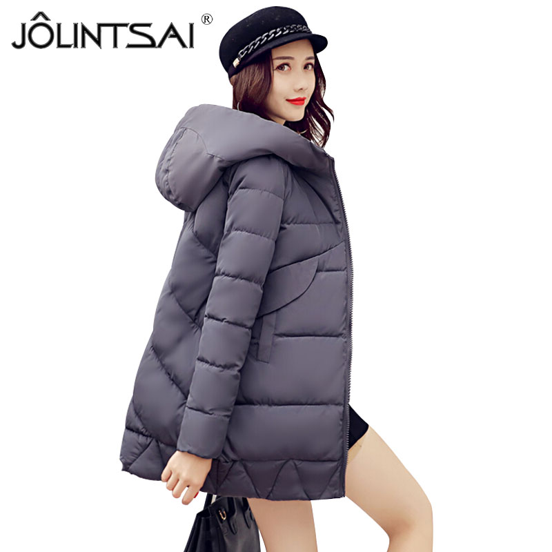 New Winter Women's Coat Slim Cotton Padded Clothing Women Medium-long Parka Autumn Winter Jacket Casual Hooded Female Outwear
