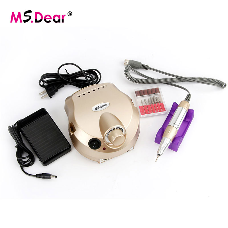30000 RPM Gold Professional Electric Nail Art Drill File Pedicure Equipment Manicure Machine Kit Nail Art Tools For Nail Gel red nail tools electric nail drill machine 30000rpm nail art equipment manicure kit nail file drill bit sanding band accessory