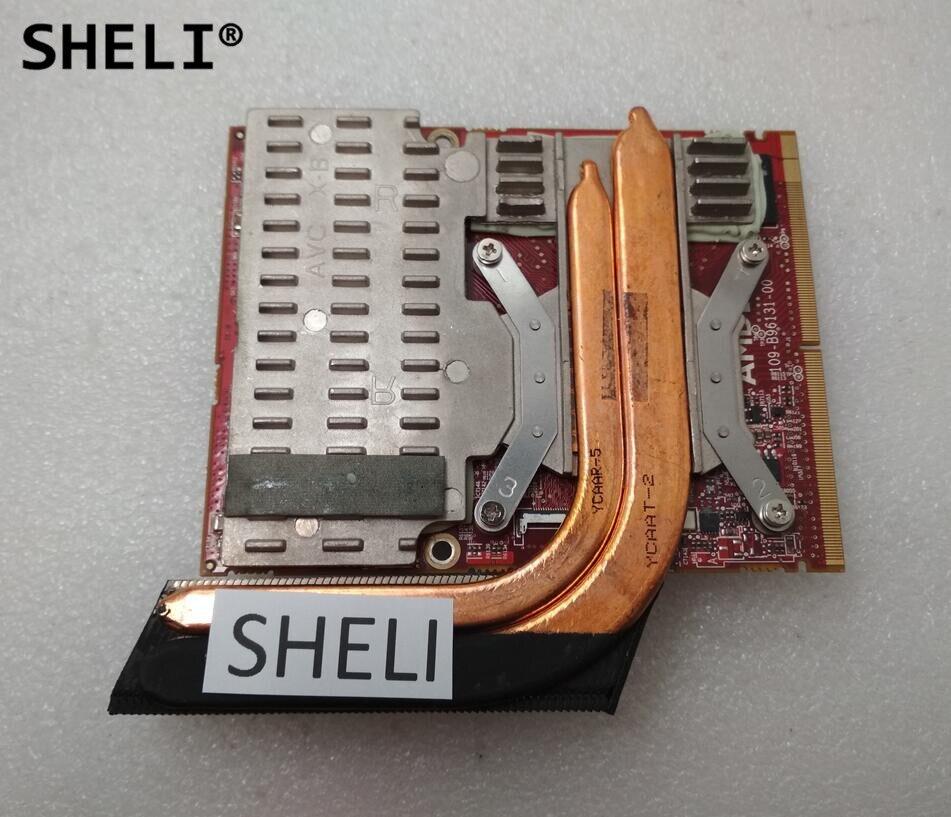 SHELI HD5870 5870M HD 5870 1GB DDR5 VGA Видеокарта для M17X M15X R2 RV546 CN-0RV546 731MJ CN-0731MJ 109-B96131-00