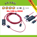 Free Shipping New 2M Micro USB to HDMI Adapter&Connector Cable With USB Charger For Samsung Galaxy Nexus HTC SONY Lenovo XIAOMI