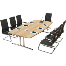 Conference Table Office Furniture Commercial Furniture modern panel+steel office desk wholesale can customize size 2017 solid(China)