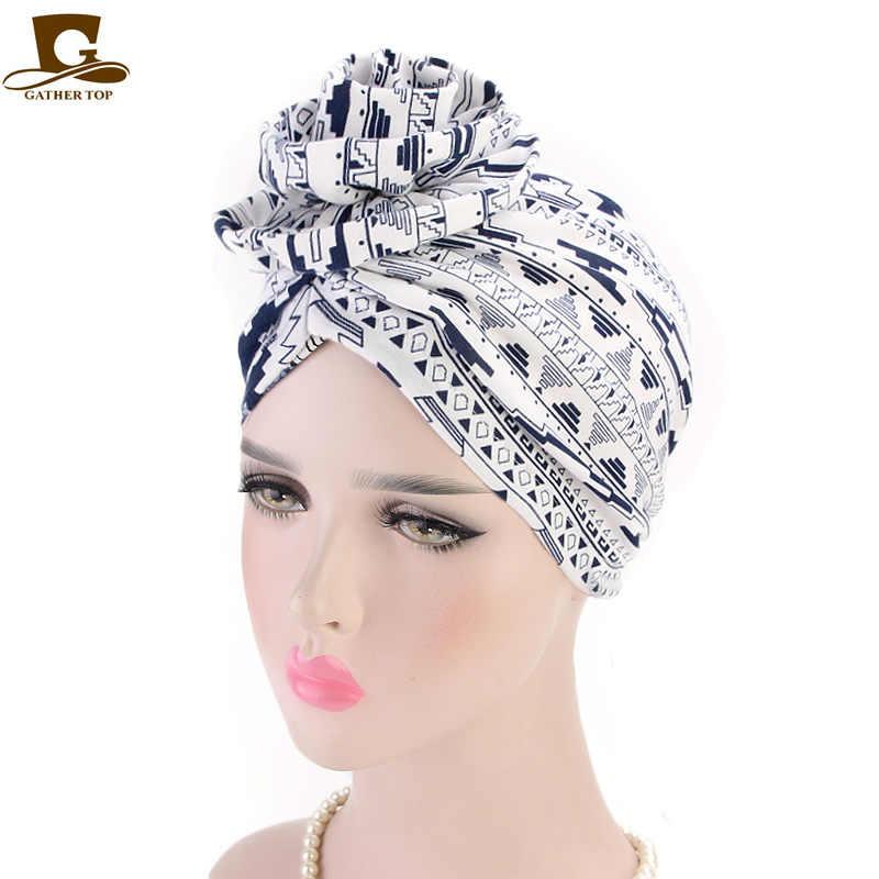 Новый элегантный хлопок 3D цветок тюрбан Женская шапочка химиотерапия Рак шапка тюрбанты головной убор Бандана Свадебный Праздничный аксессуар для волос