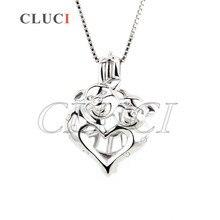 Интересно Двойные Свиньи кулон стерлингового серебра 925 медальон ожерелье подвеска кейдж 3 шт.