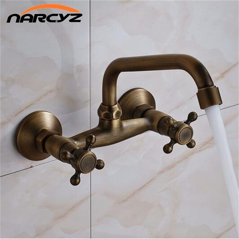 Into the wall faucet basin hot and cold copper wash basin faucet antique XT920 pastoralism and agriculture pennar basin india