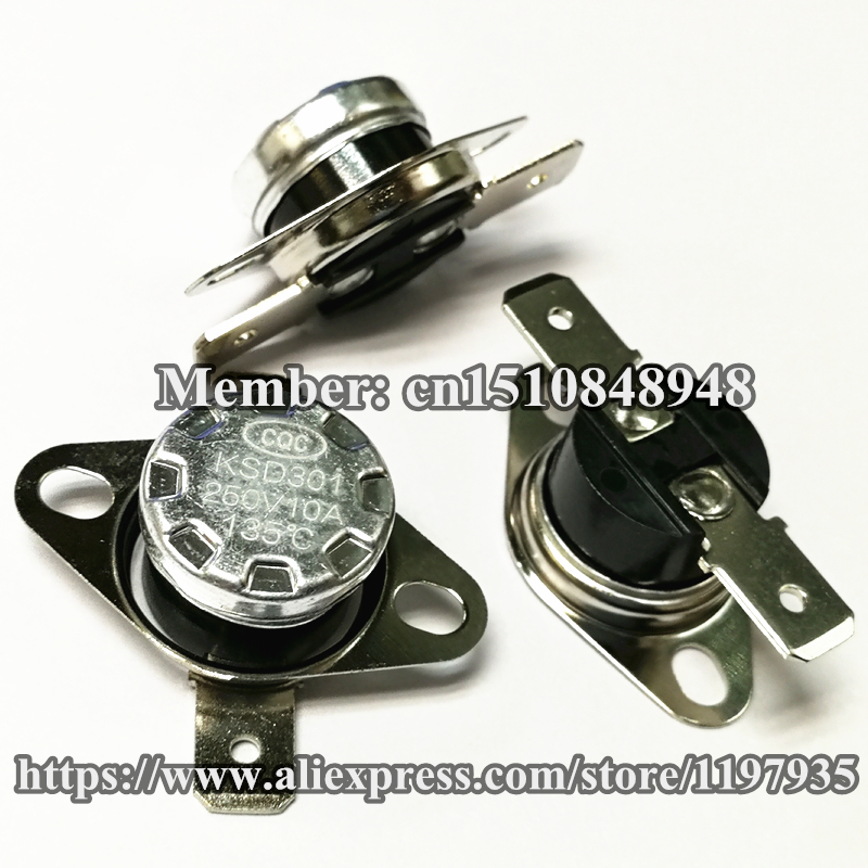 temperature switch KSD301 115 degrees 250V 10A 115 degrees 115C Normally closed in Switches from Lights Lighting