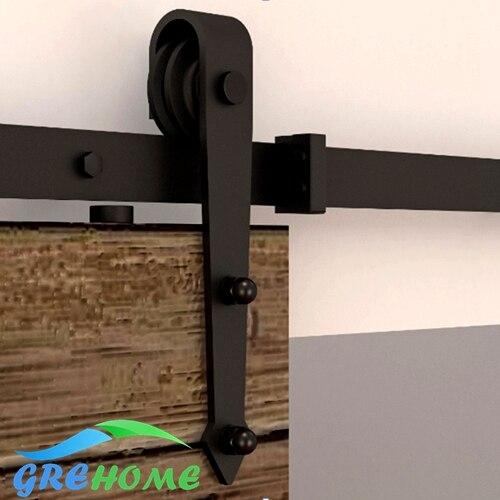 4.9FT/6FT/6.6FT Carbon steel  European Modern  Wood barn sliding door kits ft f905