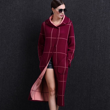 Autumn And Winter Women's Thickening Mink Wool Coat Long Hooded Easing Sable Villi Cardigan Coat