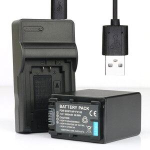 LANFULANG 1-Pack of NP-FV100 Batteries and Battery Charger for Sony NP-FV30 NP-FV40 NP-FV50 NP-FV70 NP-FV70A NP FV100 BC-TRV
