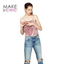 MAKEUCHIC Apparel Sexy Women Tank Top Pink Ruffles Casual Sleeveless Ladies T-shirt Brief Style Streetwear Female Crop Tops