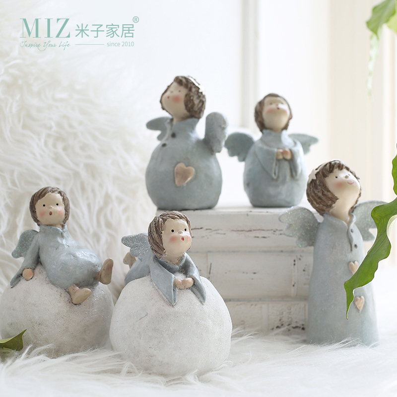 Miz 1 Piece Resin Doll Craft Snowball Figurines Christmas Gifts For Kids Home Decoration Desk Accessories