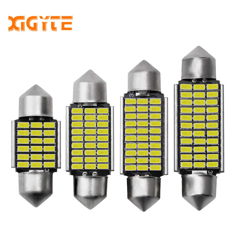 1pcs Car Interior Light 31mm 36mm 39mm 41mm SMD LED Bulbs C10W C5W Festoon Mirror Dome Reading Door Number Lamp Car Accessories