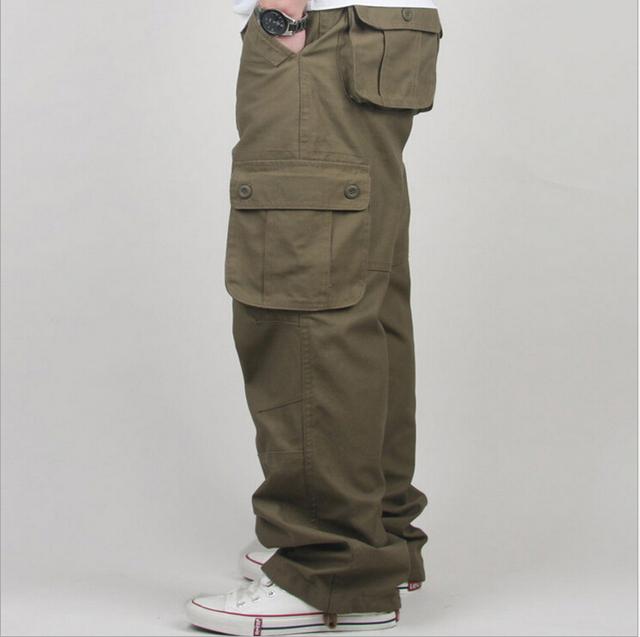 Primavera Otoño 2016 nuevos hombres pantalones casuales suelta de algodón paquetes largen lager tamaño pantalones casuales de la moda masculina de los hombres 30-44 A361