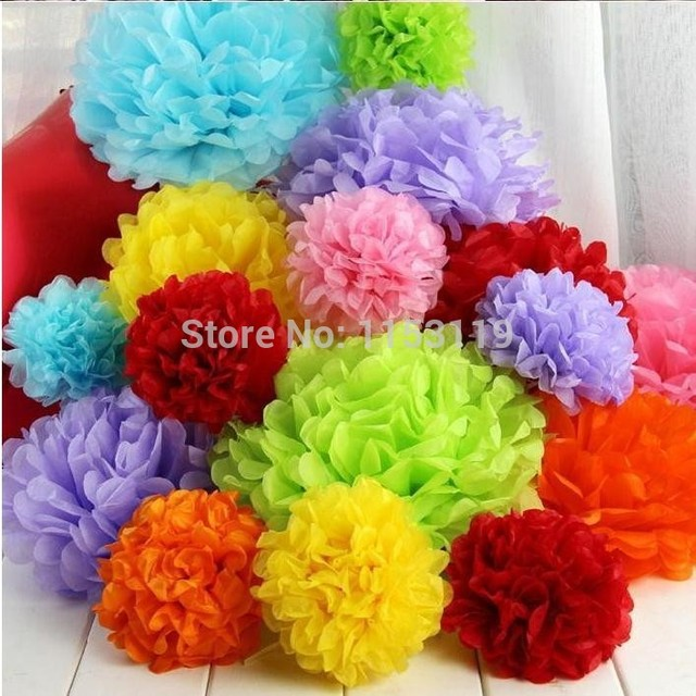 10pcs Lot 18inch 45cm Tissue Very Big Paper Pom Poms Diy Paper Flowers Ball Fashion Flower Balls For Weddings Decoration On Aliexpress Com Alibaba