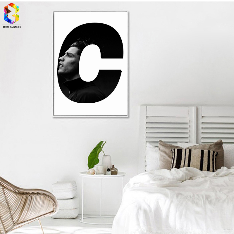 ZeroC C Quote Canvas Art Print Painting Wall Pictures Poster For Bedroom Decoration Football