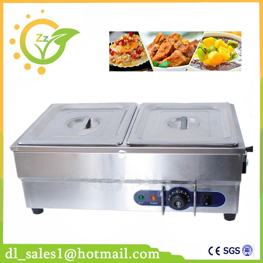 Best Price Commercial 220V 2 Pots Electric Bain Marie Food Warmer With Tap For Kitchen Appliance