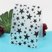 Star Plastic Embossing Folder Scrapbooking Paper Card Making Craft Template DIY Photo Album Decor