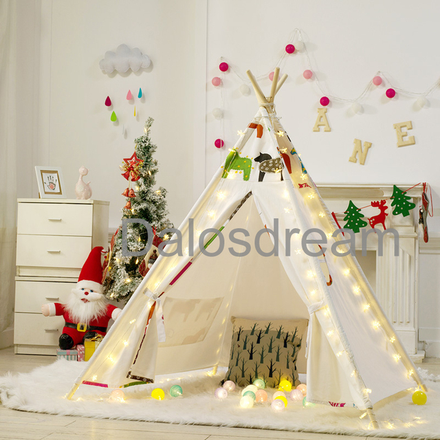 DalosDream Kids Teepee Horse Children Tipi Tent Playhouse Cotton Canvas Indoor Children Teepee Tent Toy Tent : childrens tee pee tent - memphite.com