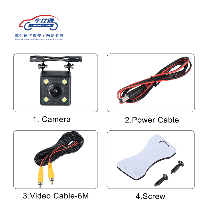 Image 4 - Car Backup Camera 4 8 12 LED light night vision reversing with parking line IP68  waterproof Rear View Camera-in Vehicle Camera from Automobiles & Motorcycles