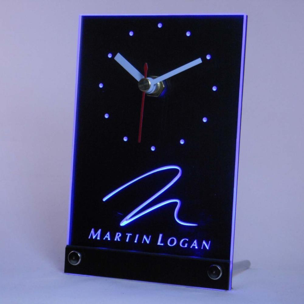 Tnc0431 Martin Logan Altavoz Audio Home Mesa de Escritorio 3D LED Reloj