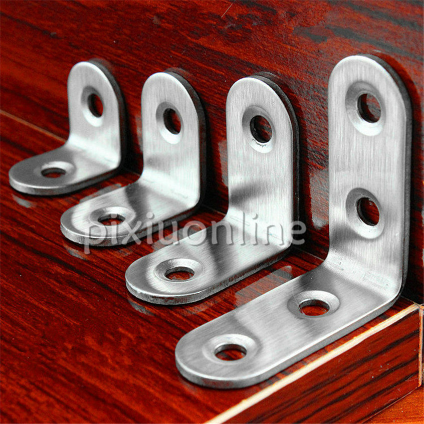 Wholesale DS275b Standard 5 Different Standard Stainless Steel Corner Braces DIY Furniture Woodworking Brazil Russia  цены