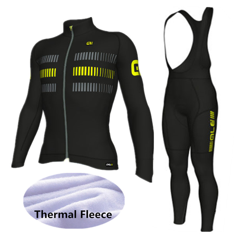 2017 ALE Cycling Set Winter Thermal Fleece Long Sleeves Cycling Jerseys Ropa Maillot Ciclismo Bicycle MTB Bike Cycling Clothing st peter s golden ale