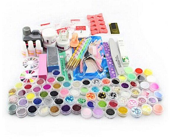 Hot Professional Nail Art Manicure Tools Acrylic Liquid Powder Glitter Art UV Gel Rhinestones Tips Brush Tool Nail Set Kit