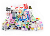 Hot Professional Nail Art Manicure Tools Acrylic Liquid Powder Glitter Art UV Gel Rhinestones Tips Brush Tool Nail Set Kit