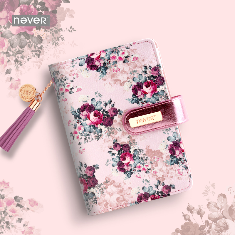 NEVER rose series spiral notebook Monthly Weekly planner 2018 agenda organizer personal diary Vintage stationery school supplies never sweet pink diary a6 spiral notebook agenda 2018 personal weekly planner chancellory school supplies korean gift stationery