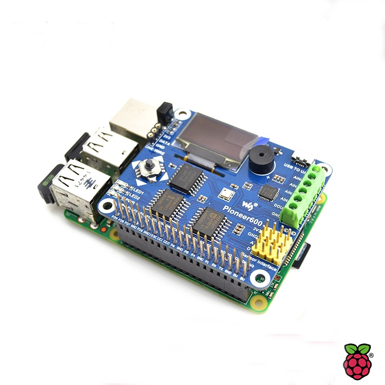 Free Shipping High Quality Only Raspberry Pi Ensor Expansion Board With AD DA RTC OLED For Raspberry Pi A+/B+/2B
