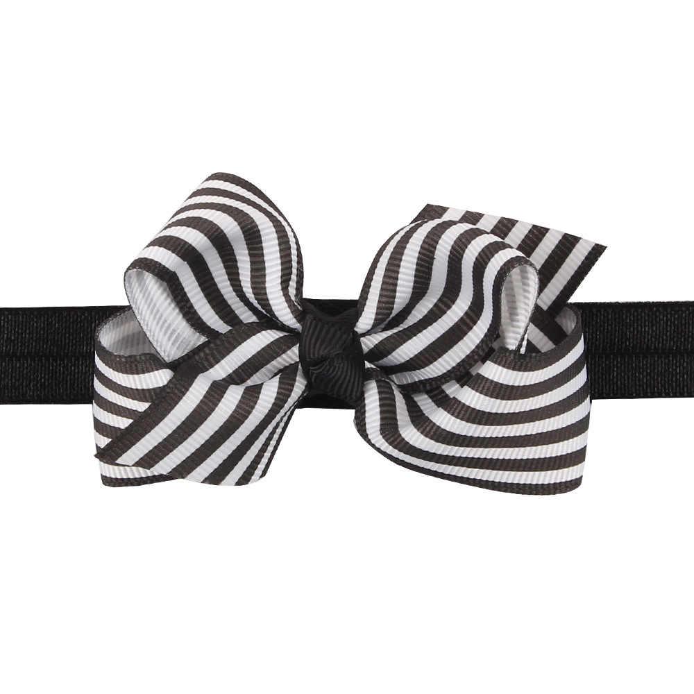 เด็กทารกแถบคาดศีรษะทารกอุปกรณ์เสริมผมวง bows ลาย Headwear tiara headwrap ของขวัญเด็กวัยหัดเดินผ้าพันคอริบบิ้นเด็กแรกเกิดผ้า