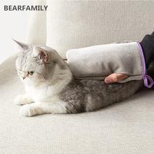 Многофункциональная перчатка для груминга расческа массажа собак