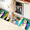 XYZLS Modern Floor Mat National Cute Cat Carpet Kitchen Door Mat Living Room Bedroom Anti Slip