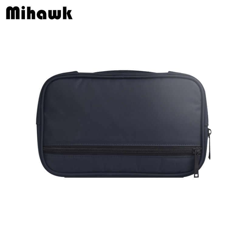 Mihawk нейлоновая цифровая сумка для мужчин power Bank футляр с жестким диском в форме