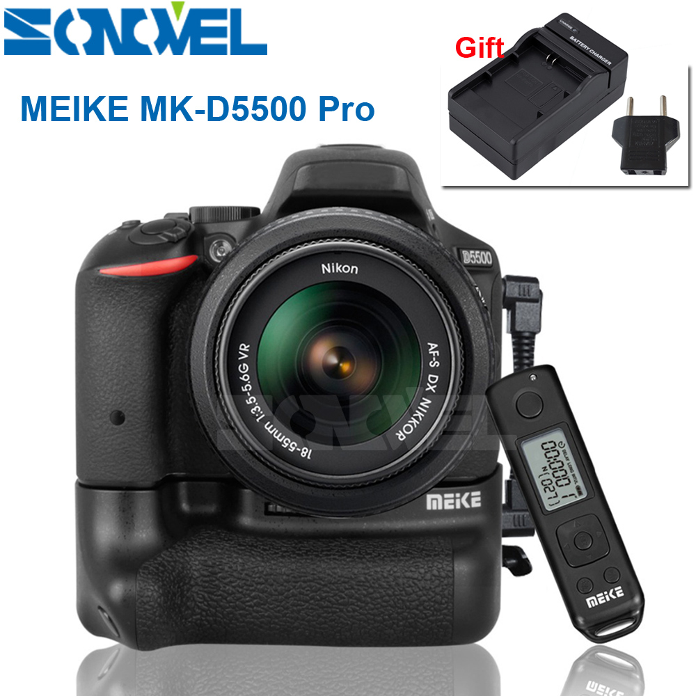 Meike MK-D5500 Pro 2.4G Wireless Remote Control Vertical Battery Grip Holder for Nikon D5500 camera EN-EL14 EN-EL14a meike mk d500 pro vertical battery grip built in 2 4ghz fsk remote control shooting for nikon d500 camera as mb d17
