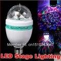 Сценическое освещение 5 шт./лот Бесплатная доставка 3 Вт RGB DJ сценическое освещение лампа диско хрустальный шар E27 Цоколь лампа RGB LED