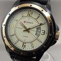 2016 CURREN NEW FASHION QUARTZ relógio HOUR dia data homens relógio de ouro pulseira de couro relógios de pulso
