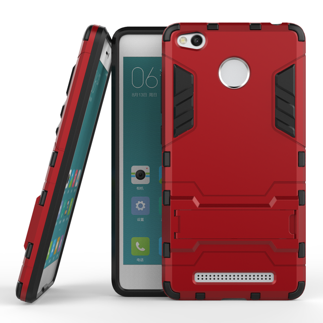 c939df67ef3 Funda For Xiaomi Redmi 3 Case Heavy Duty Armor Case Hybrid Hard Shockproof  Silicone Rubber Phone Case Cover For Xiaomi Redmi 3 (