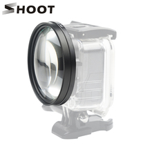 SHOOT 58mm Macro Lens 10x Magnification Close Up Lens for Gopro Hero 7 6 5 Black Waterproof Case Macro Lens Set for GoPro 7 6 5