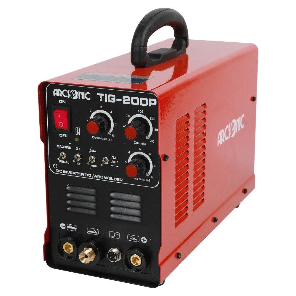 TIG200 Pluse 200 Ampères ARC TIG Pulse TIG Machine De Soudage Multi Fonction TIG200P Portable Onduleur TIG Soudeur Argon de soudage