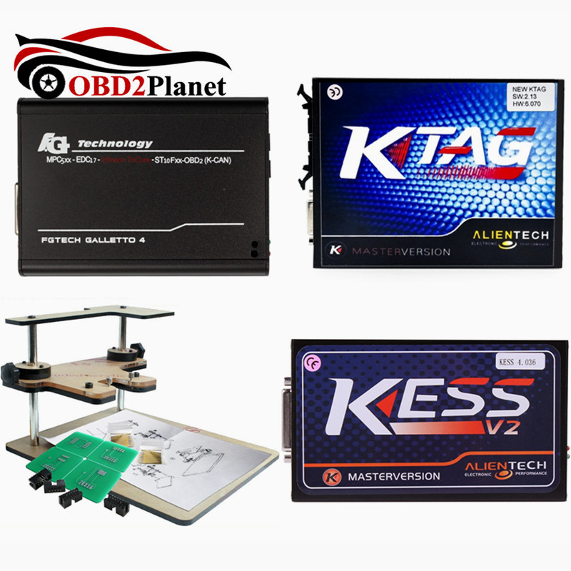 Kess V2 FW4.036 V2.32 Chip Tuning Kit+K-TAG 2.13 FW6.070 Ktag ECU Programmer+Fgtech Galletto 4 Master V54+BDM Frame Adapter Pakistan