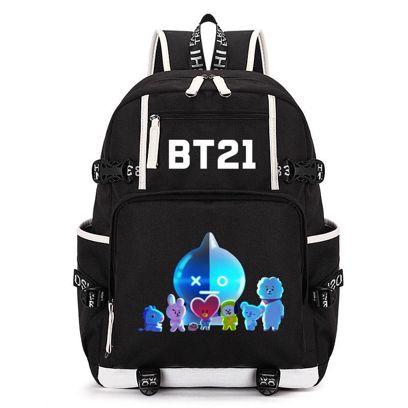 KPOP BTS Bangtan Boys Backpack Shoulder Bag SUGA J-HOPE JIN V Bookbag Cooky Travelling Bag Fans Collection New Arrival Z7121508 bangtan boys the best of bts japan edition release date 2017 01 06