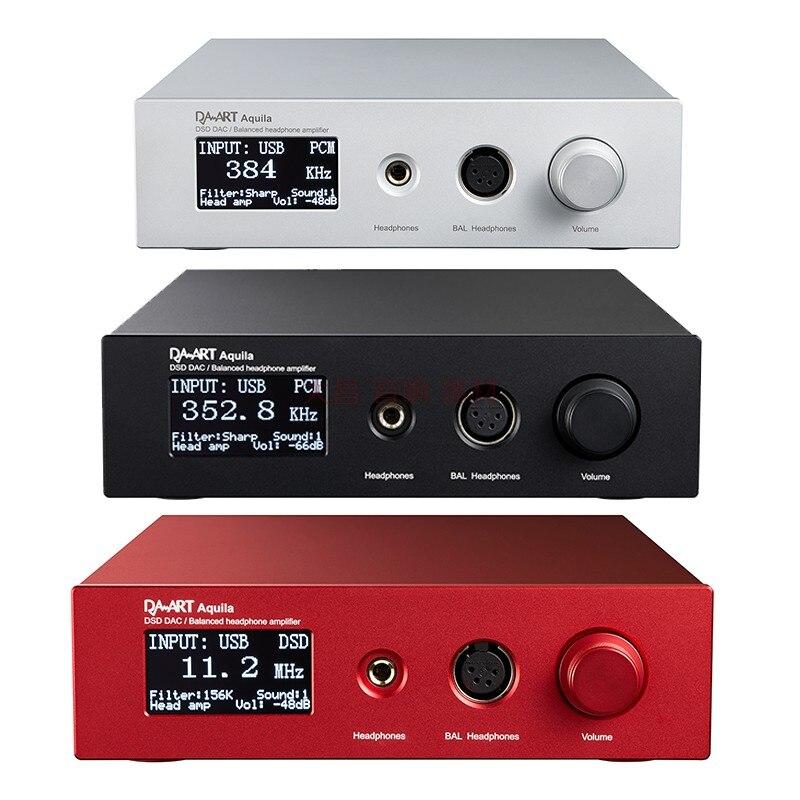 Décodeur Audio Yulong Aquila DAART OLED TPA6120 AK4497 USB SPDIF DSD DAC amplificateur de casque de pré-ampli équilibré pour IOS Android MAC