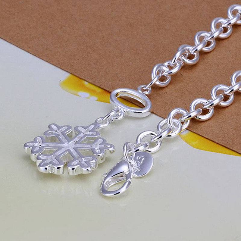 Free Shipping Wholesale silver bracelet, 925 fashion silver plated jewelry Snow bracelet /EWKXEVLW MBXCJMGA