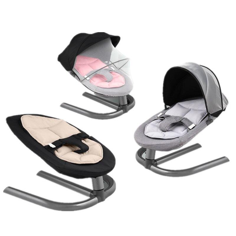 Bébé Chaise Berçante Enfants Infantile Swing En Alliage D'aluminium Bébé Videur Bébé Berceaux Lit À Bascule Les Nouveau-nés